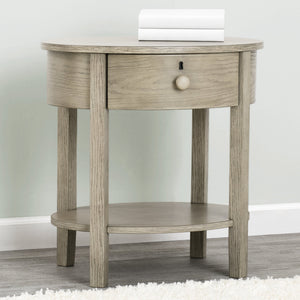 Farmhouse Nightstand with Drawer