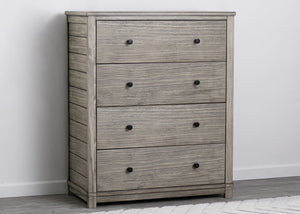 Simmons Kids Rustic White (119) Monterey 4 Drawer Chest, Front Silo View