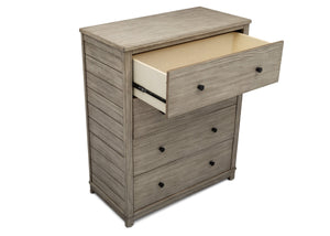 Simmons Kids Rustic White (119) Monterey 4 Drawer Chest, Open Drawer View