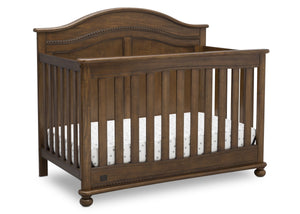 Simmons Kids Antique Chestnut (2100) Bedford 4-in-1 Convertible Crib (W337150), Right Silo, c3c