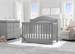 Delta Children Storm (161) Bristol 4-in-1 Convertible Crib (W337450)  Room View, b1b