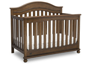 Delta Children Antique Chestnut (2100) Bristol 4-in-1 Convertible Crib (W337450) Right Facing Silo, c3c