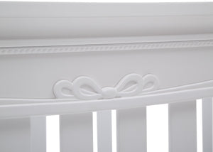 Simmons Kids Bianca White (130) Fairytale 5-in-1 Convertible Crib with Conversion Rails, Detail View 2