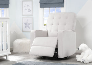 Delta Children Linen (150) Graham Nursery Glider Swivel Recliner, Room Reclined View