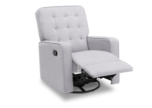 Delta Children Linen (150) Graham Nursery Glider Swivel Recliner, Right Reclined Silo View