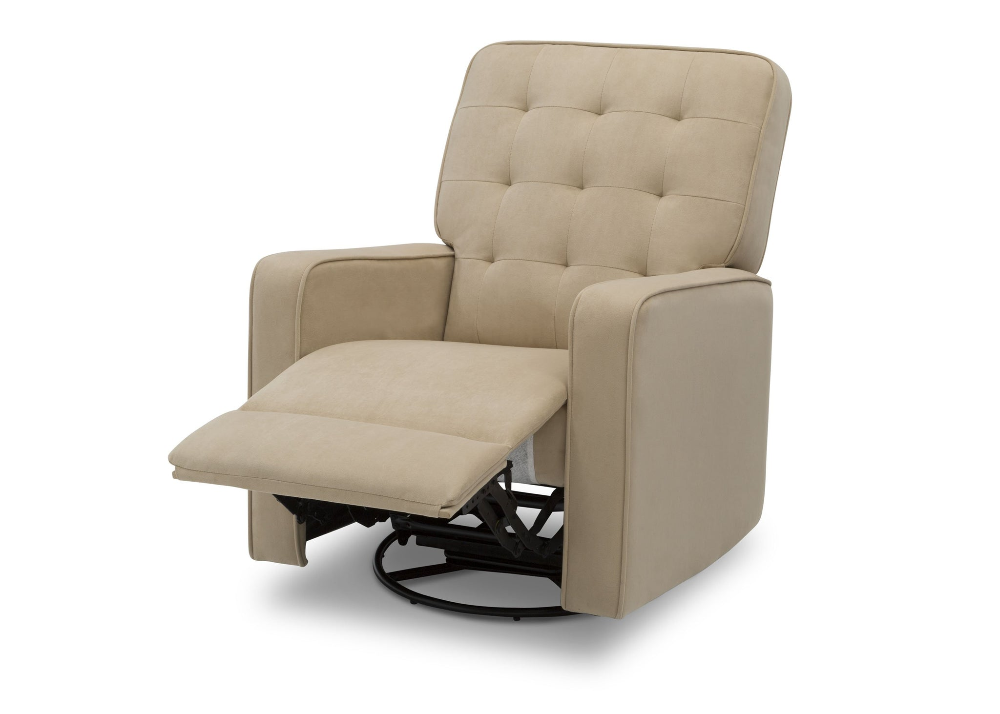 Delta Children Sisal (727) Graham Nursery Glider Swivel Recliner, Left Reclined Silo View