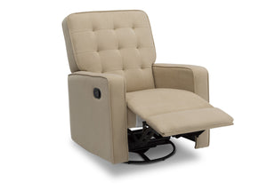 Delta Children Sisal (727) Graham Nursery Glider Swivel Recliner, Right Reclined Silo View