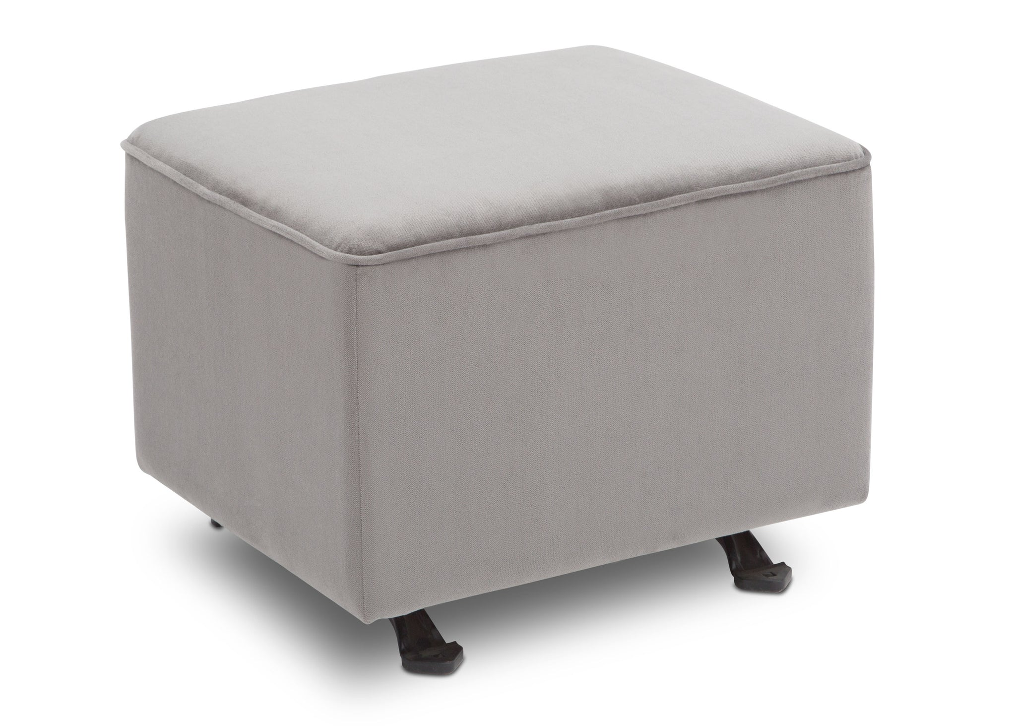 Delta Children Cloud Grey (1344) Landry Nursery Gliding Ottoman Right View a3a