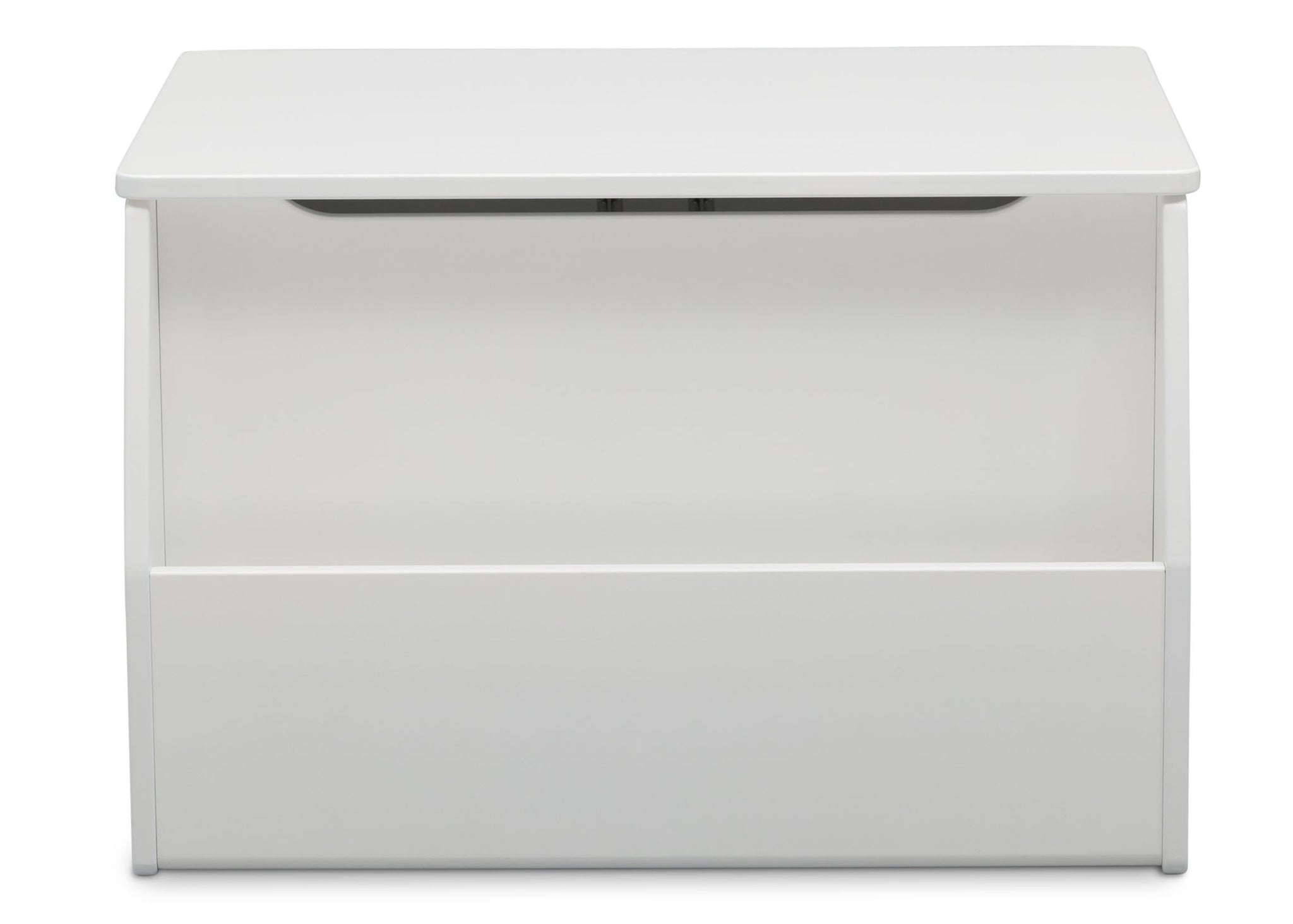 Delta Children Bianca White (130) Nolan Toybox (W101451), Front Facing b4b
