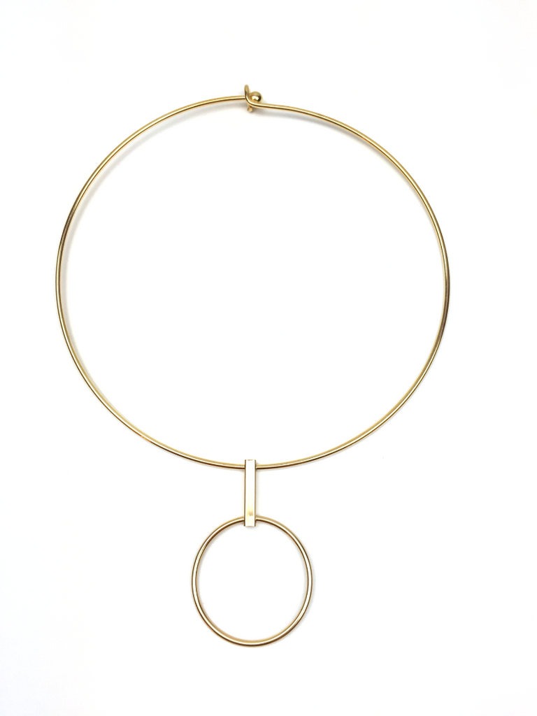 Circle Drop Choker - JEWEL RUE  - 4