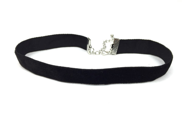 Black Velvet Choker - JEWEL RUE  - 1
