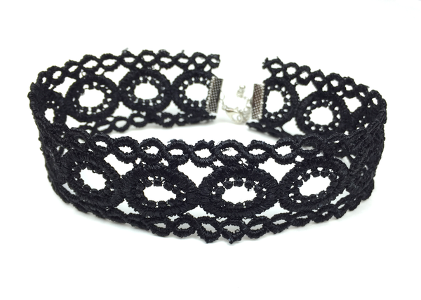 Black Lace Choker - JEWEL RUE  - 1