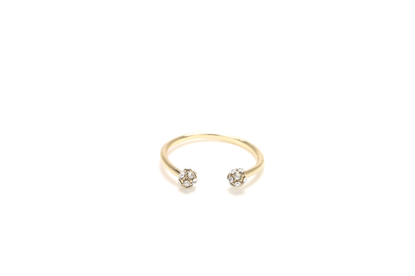 Crystal Orb Cuff Ring - JEWEL RUE  - 1