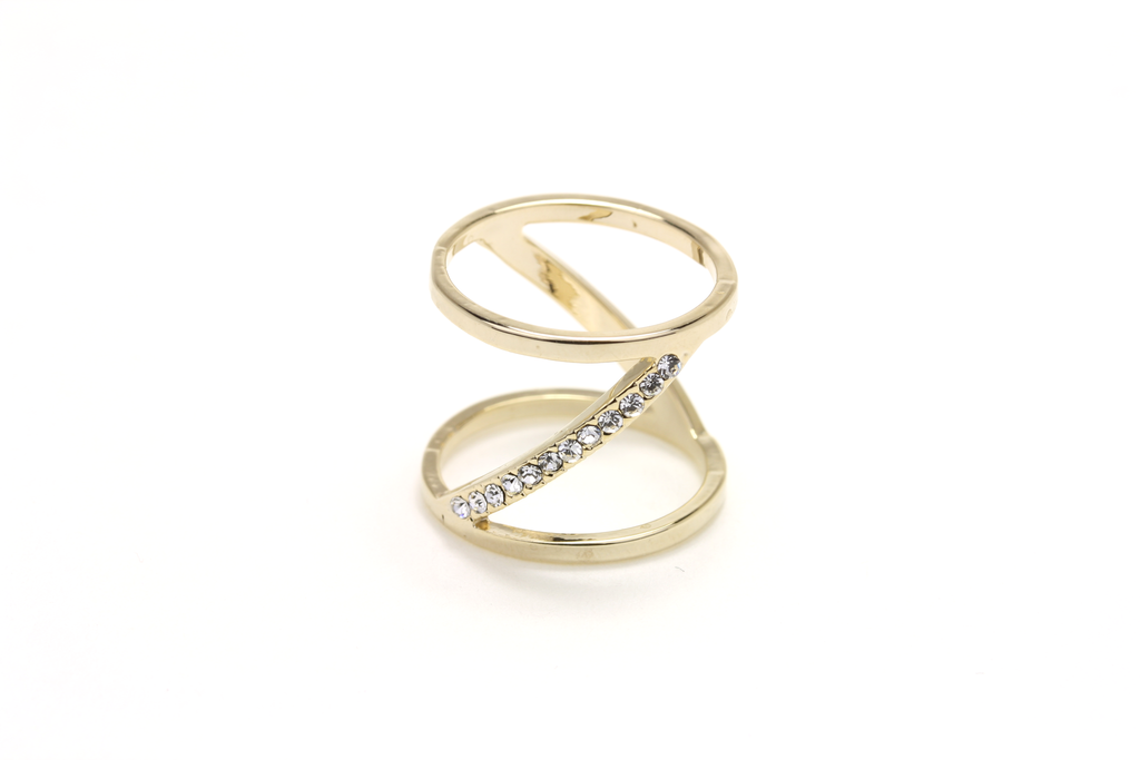 Borderline Pave Ring - JEWEL RUE  - 1