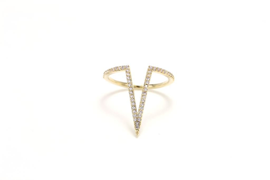 On Point Pave Ring - JEWEL RUE  - 1