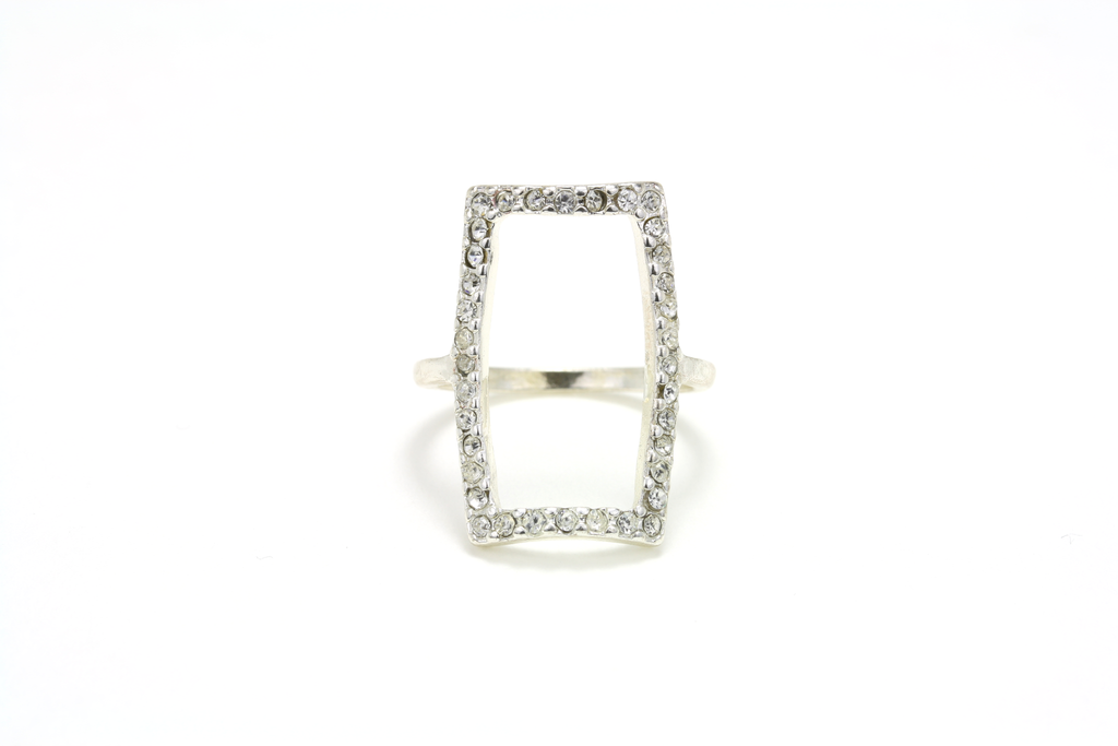 Solitaire Pave Ring - JEWEL RUE  - 1