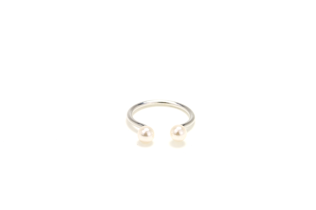 Pearl Cuff Midi Ring - JEWEL RUE  - 1
