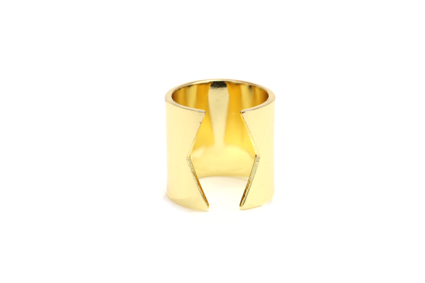 Geo Cutout Wide Ring - JEWEL RUE  - 1