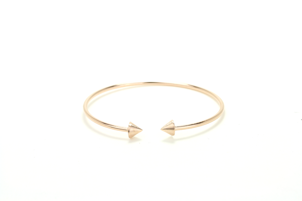 Double Spike Bangle - JEWEL RUE  - 1