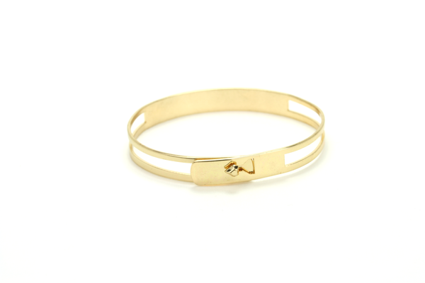 Minimal Cutout Bangle - JEWEL RUE  - 1