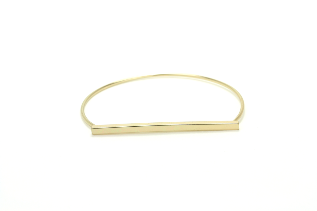 Minimalist Bar Bangle - JEWEL RUE  - 3