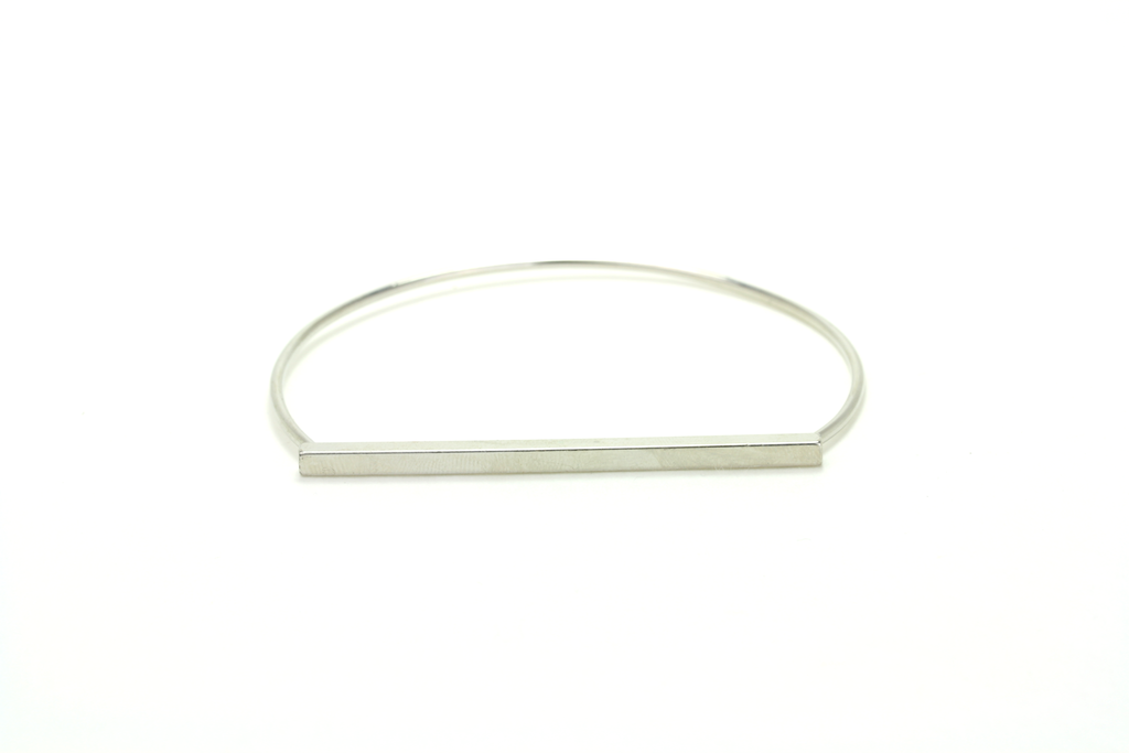 Minimalist Bar Bangle - JEWEL RUE  - 1