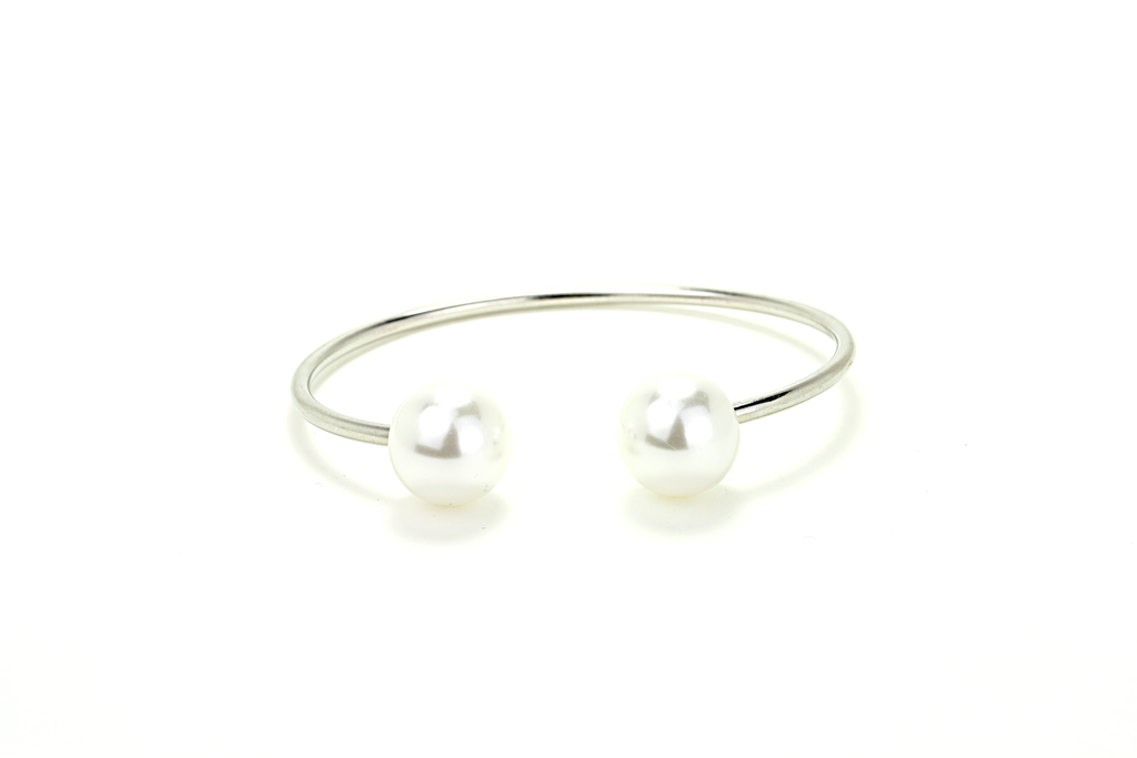 Divided Pearl Cuff - JEWEL RUE  - 1