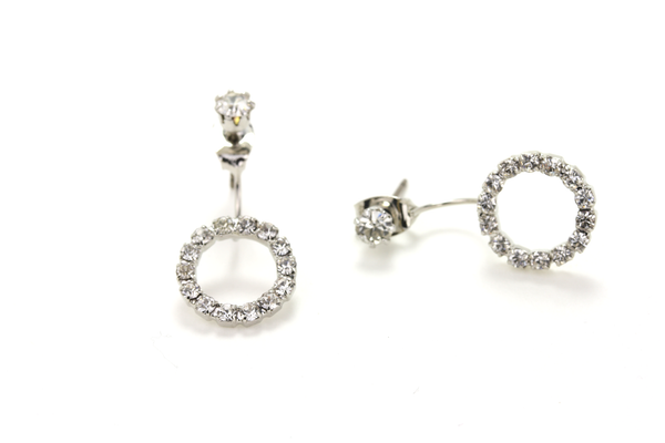 Floating Halo Earring - JEWEL RUE  - 1