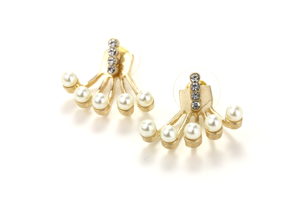 Pearl Spray Ear Jacket - JEWEL RUE  - 1