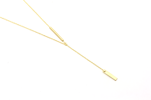 Bar Drop Necklace - JEWEL RUE  - 1