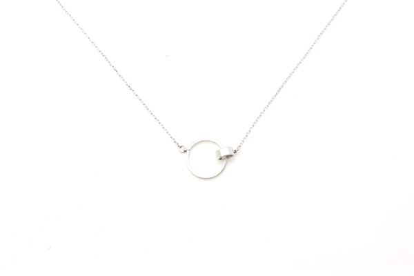 Linked Circle Necklace - JEWEL RUE  - 1