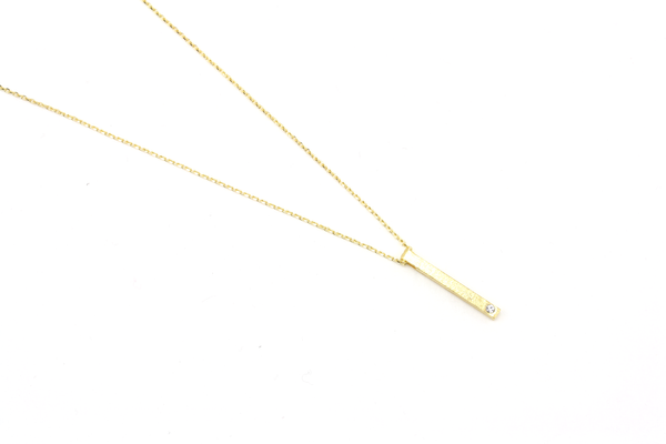 Vertical Bar Necklace - JEWEL RUE  - 1