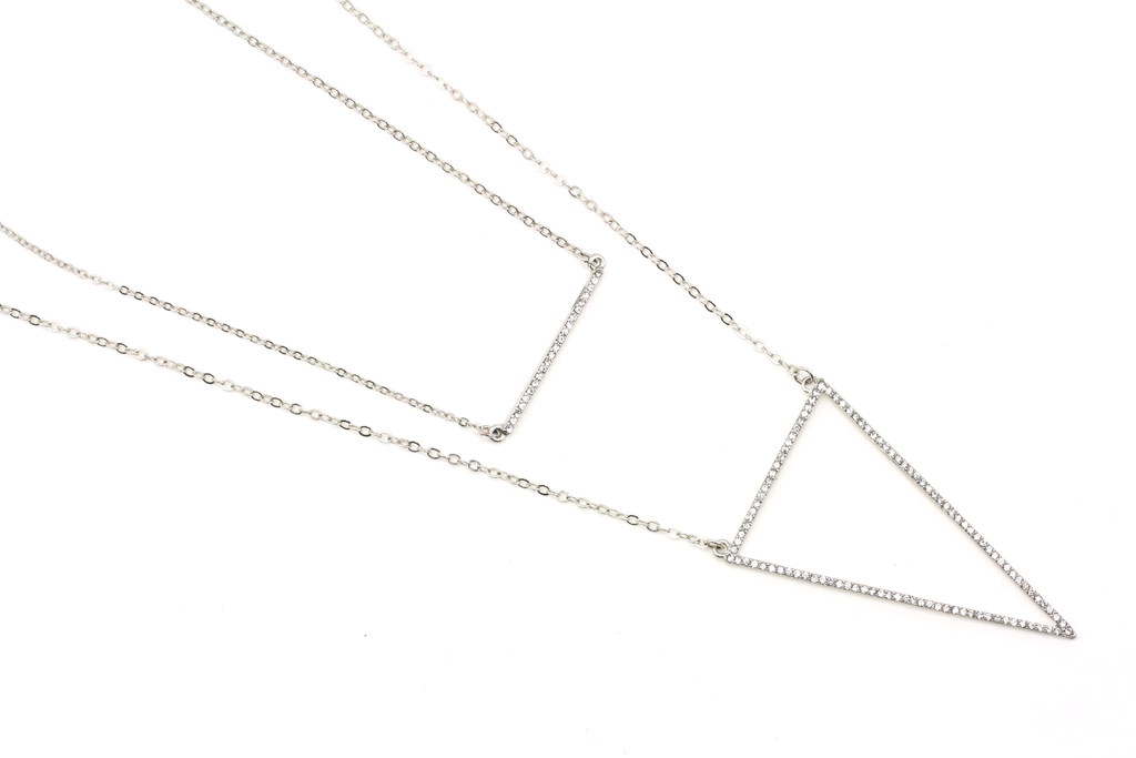 Prism Layered Necklace - JEWEL RUE  - 1