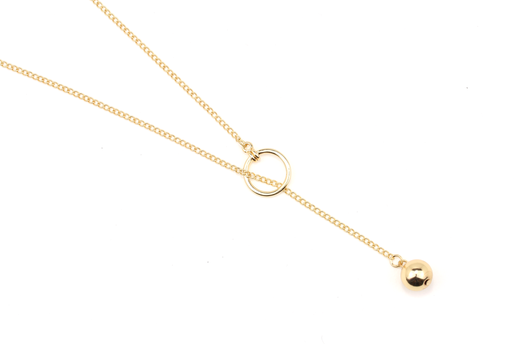 Gold Orb Necklace - JEWEL RUE  - 1