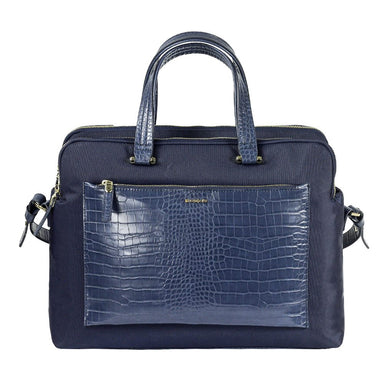 "Cartera Zalia Org.Bailhandle 14.1"" Cr Dark Blue/Croco Print"