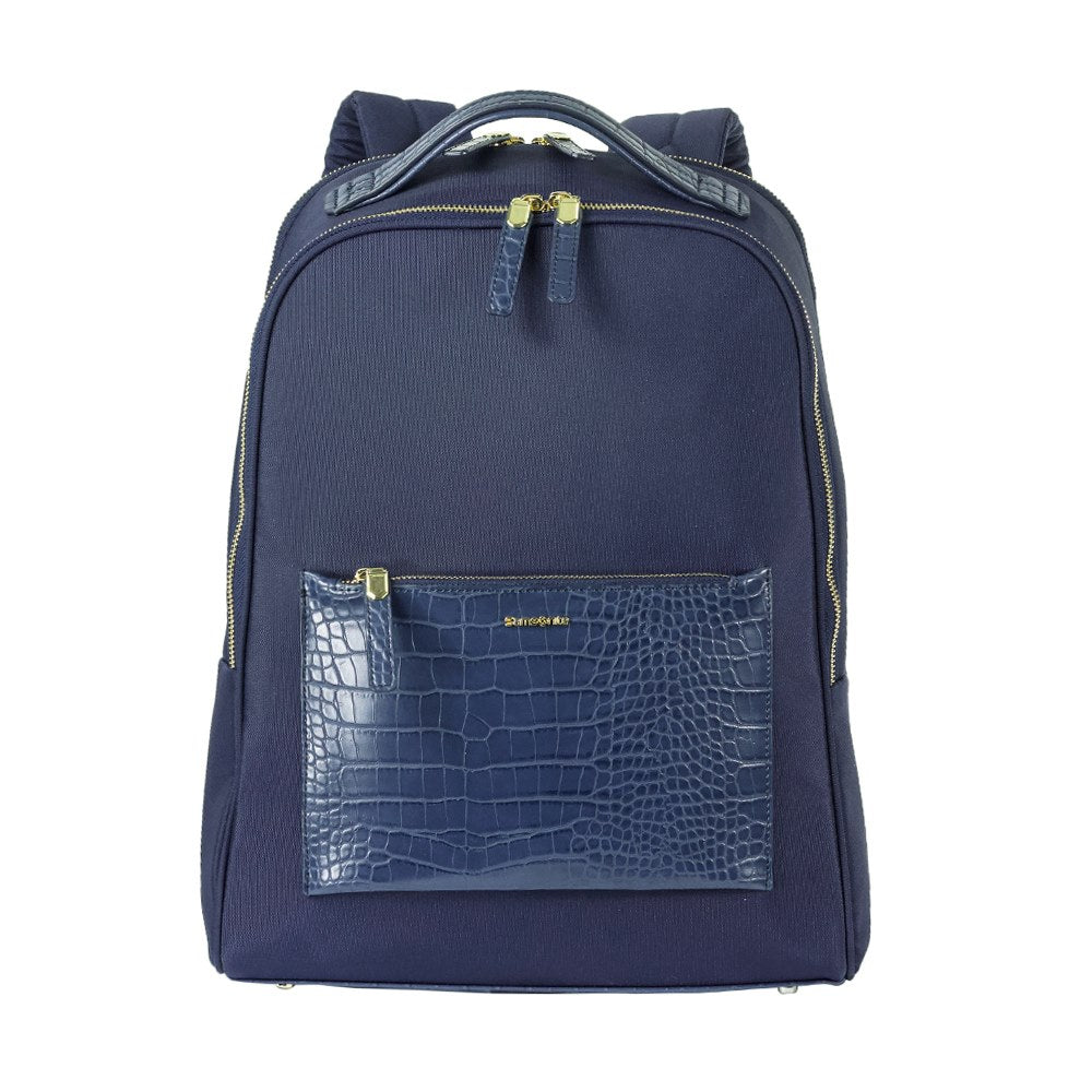 "Mochila Zalia Backpack 14.1"" Cr Dark Blue/Croco Print"