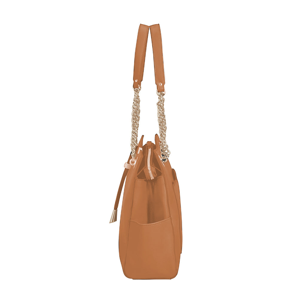 Cartera Satiny 2.0 Shopping Bag Copper Blush Grande 4,2 Lts