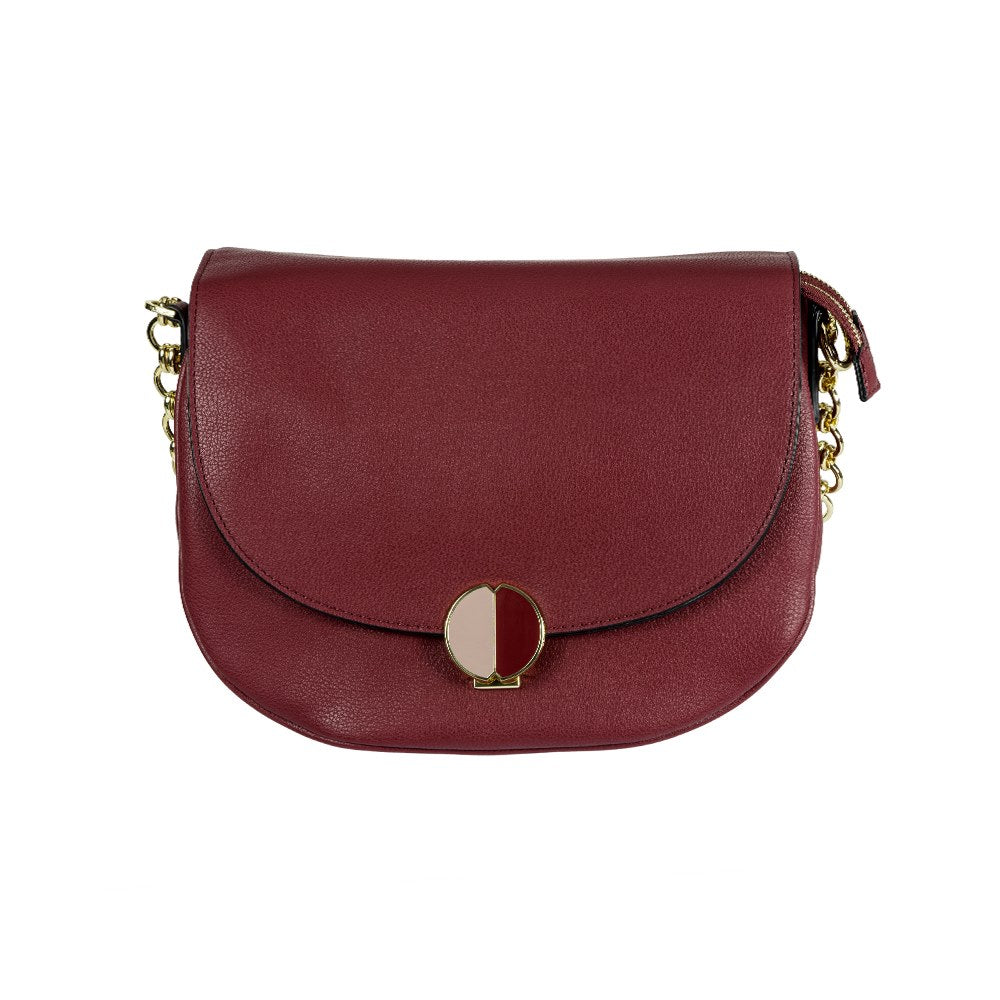 Cartera Sphinx Round Shoulder Bag M Dark Bordeaux