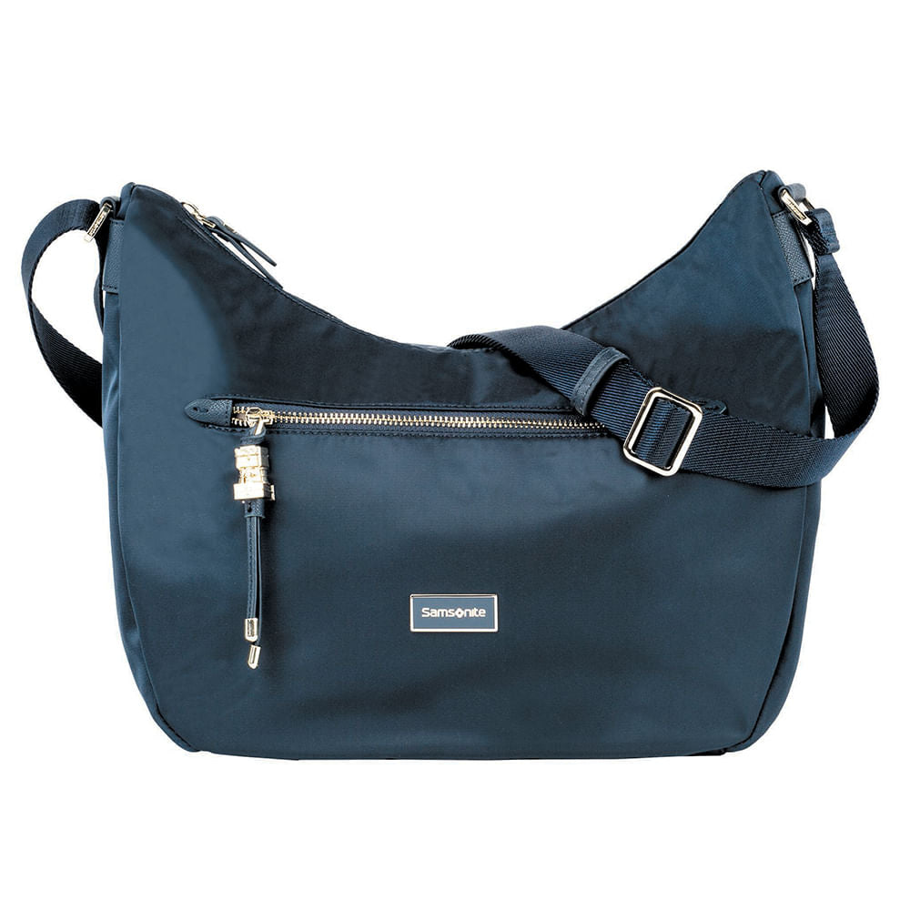Cartera Karissa Hobo Bag M Dark Navy Mediana 2,36 Lts