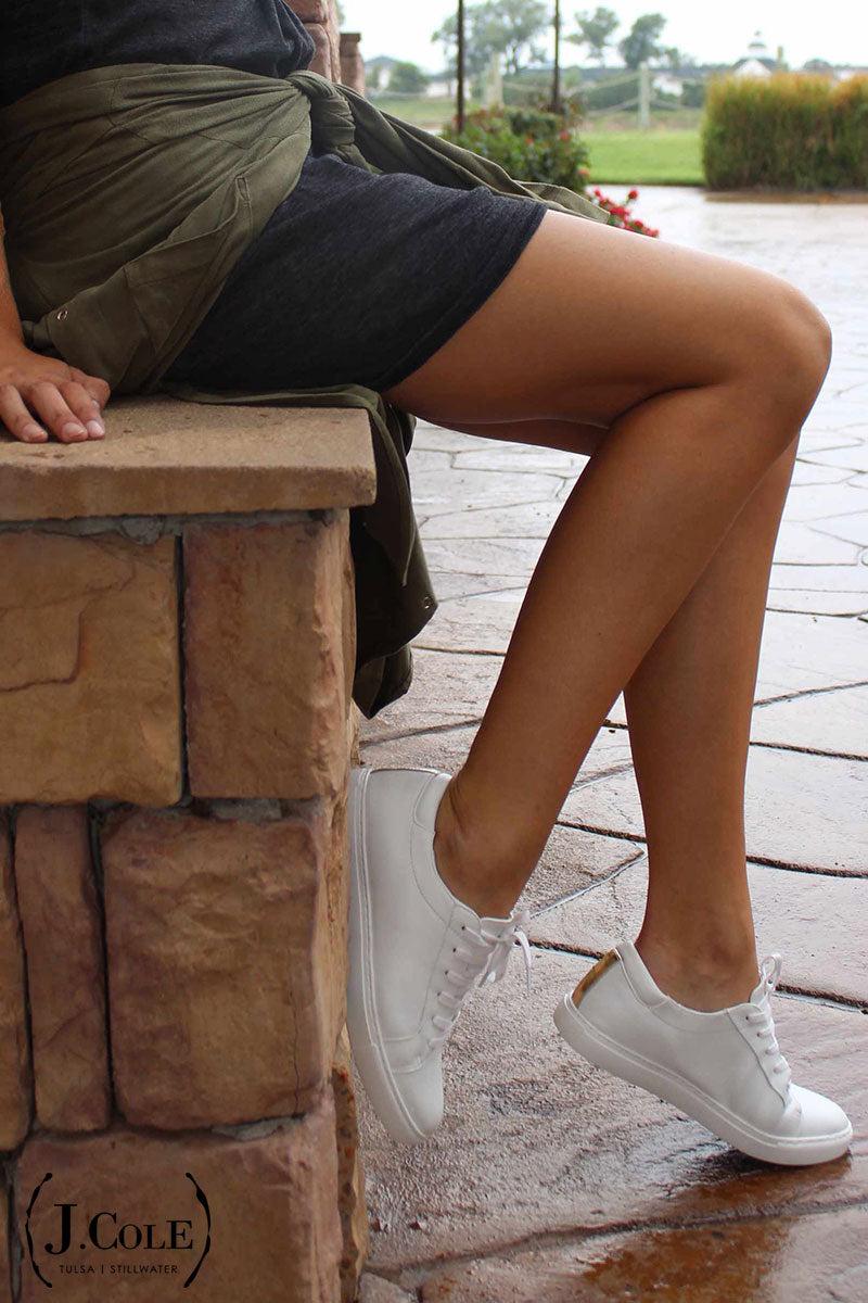 white fashion sneakers