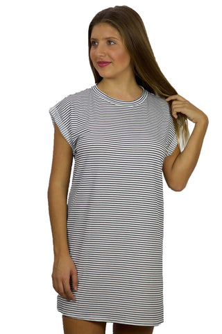 Rolled Cuff T-Shirt Dress