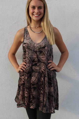 Ellie Burnout Velvet Mini Dress