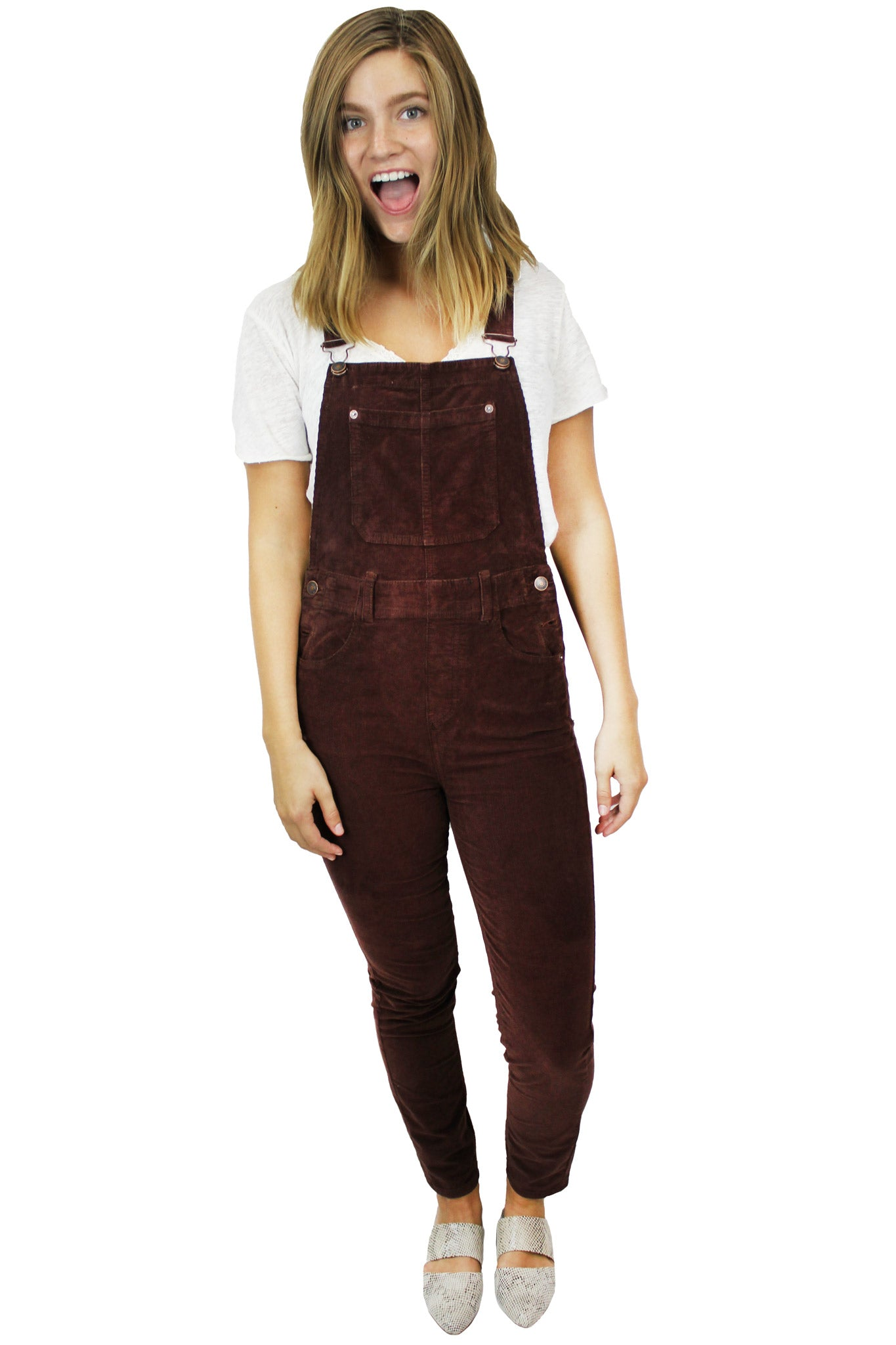 Slim Ankle Cord Overall