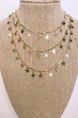 3 Tier Star Necklace