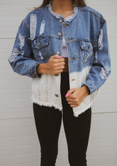 HALF & HALF DENIM JACKET