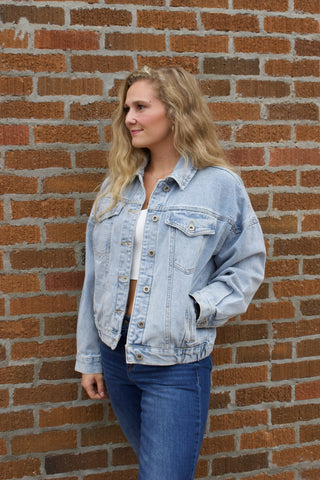 Retro Washed Denim Jacket