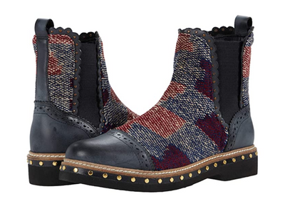 Free People: Textile Atlas Chelsea Boot Blue Kilim