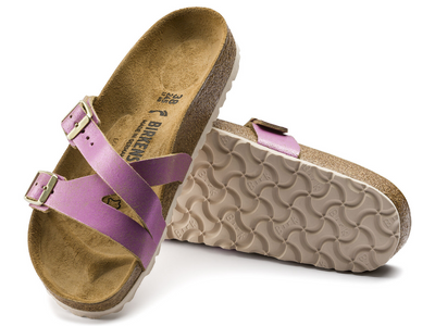Birkenstock: Yao Washed Metallic Pink
