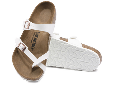 Birkenstock: Mayar White with Copper HFB
