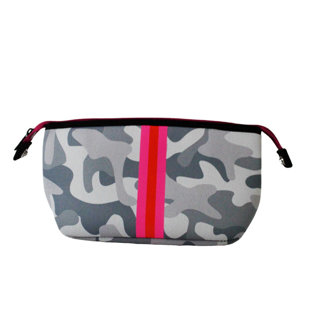 Erin Cosmetic Case in White Camouflage